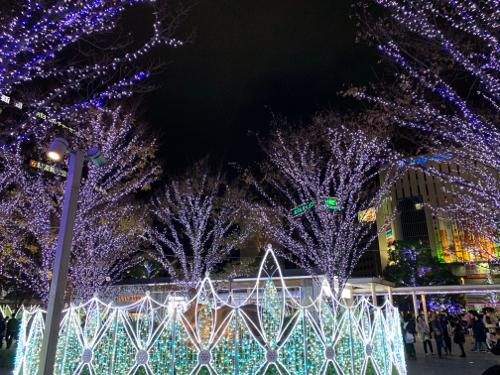 福岡の博多駅のイルミネーション